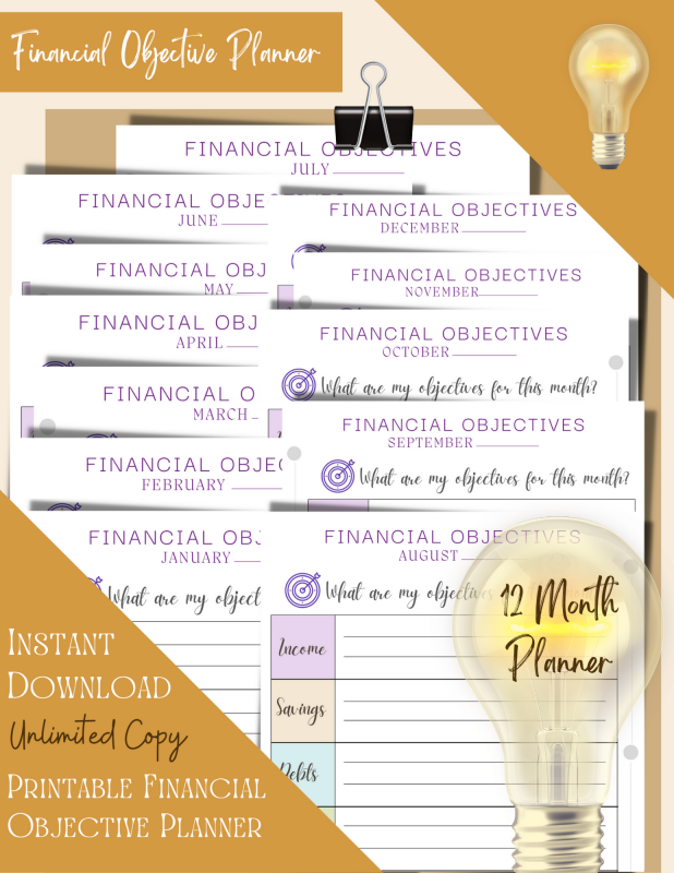 Printable Financial Objective Planner